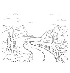empty mountain road vector image
