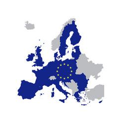 European union map with stars eu vector
