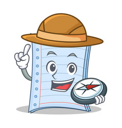 Explorer notebook character cartoon design vector