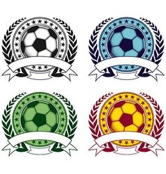 Football emblem 4 vector