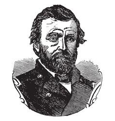 general ulysses grant vintage vector image