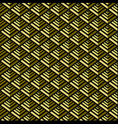 golden pyramid geometric seamless pattern vector image