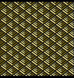 golden pyramid geometric seamless pattern vector image