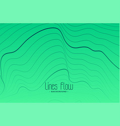 Green background with black contour lines vector