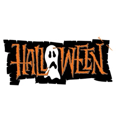 Halloween hand lettering vector
