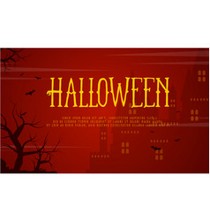 Halloween haunted castle background style vector