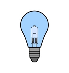 Halogen light bulb Flat color icon Lighting vector image