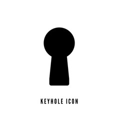 Keyhole silhouette on white background keyhole vector
