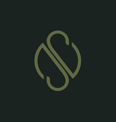 Letter snsos icon logo design template vector