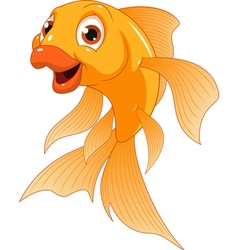 Little funny goldfish vector