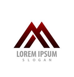 logo concept design geometric line initial letter vector image