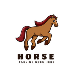 logo horse simple mascot style vector image