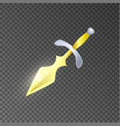 Magic knife isolated game element vector