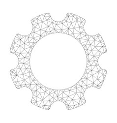 mesh gear icon vector image