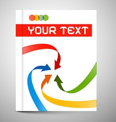 Modern Book or Brochure Cover Design vector image