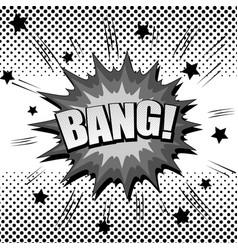 Monochrome explosive comic template vector