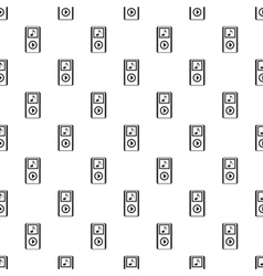 Mp3 player pattern simple style vector