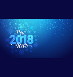 New year 2018 greeting banner with snowflakes vector