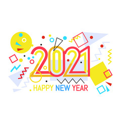 new year color 2020 number design vector image