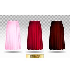 Of different model skirt on vector