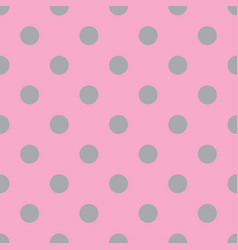 Pink and gray seamless polka dot pattern vector