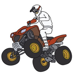 Rider on the red ATV vector image