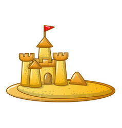 Sand kingdom icon cartoon style vector