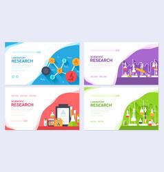 science information brochure card set laboratory vector image