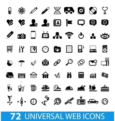 Set of 72 universal web icons vector