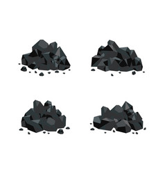 set of various piles of black vector image