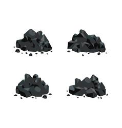 Set of various piles of black vector