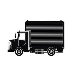 Silhouette truck mini cargo service transport vector