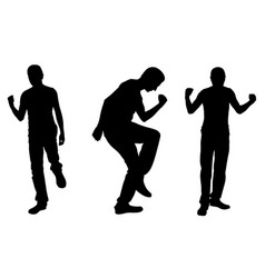 Silhouettes successful men vector