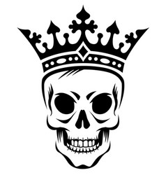 skull in crown vector image