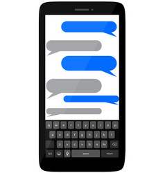 smart phone with empty text bubbles vector image