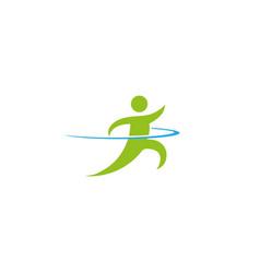 speed sprinter an athlete run fast for logo design vector image