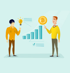 Successful promotion of new cryptocurrency startup vector