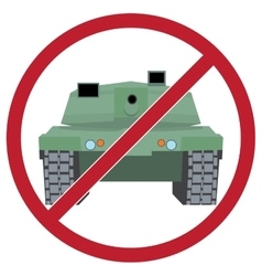 tank against background sign ban vector image