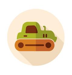 tractor crawler icon vector image