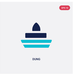 Two color dung icon from india and holi concept vector
