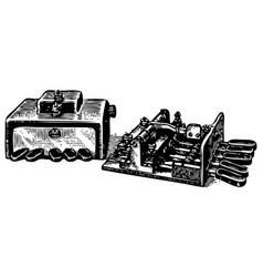 Vintage engraving manipulators vector