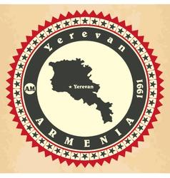 vintage label-sticker cards armenia vector image