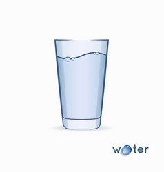 water glass logo glass on white vector image