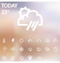 Weather Web Icons Set vector