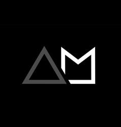 White black grey alphabet letter logo combination vector