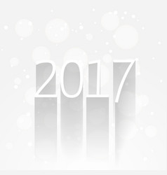 White new year 2017 background with long shadow vector