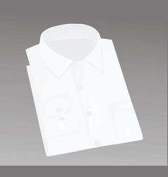 White packed men shirt vector