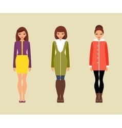 Women in outerwear vector