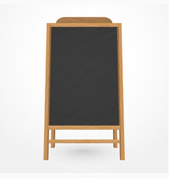 Wooden blackboard cafe menu vector