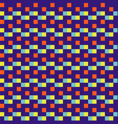 Woven seamless pattern color blocks pixel texture vector
